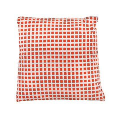 Pelzer Squares 100% Cotton Throw Pillow Color: Orange