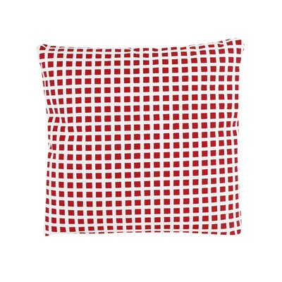 Pelzer Squares 100% Cotton Throw Pillow Color: Red