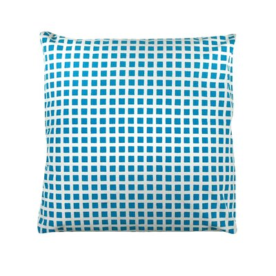 Pelzer Squares 100% Cotton Throw Pillow Color: Baby Blue