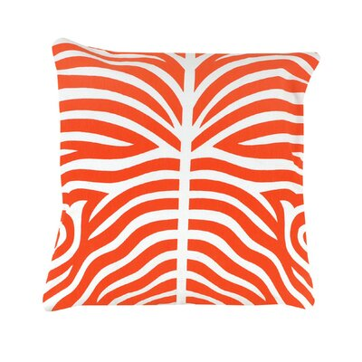 Pena Zebra Striped 100% Cotton Throw Pillow Color: Orange