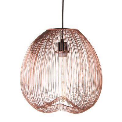 Pennell 1-Light Globe Pendant Lamp Shade Color: Copper, Size: 59 H x 13.5 W x 13.5 D