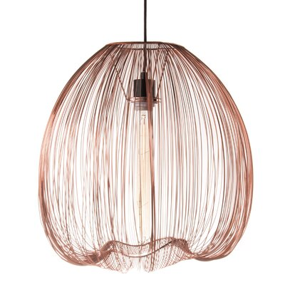Pennell 1-Light Globe Pendant Lamp Shade Color: Copper, Size: 59 H x 17.5 W x 17.5 D