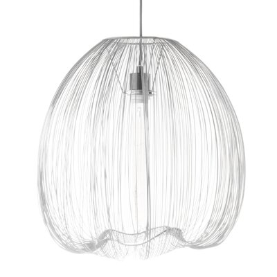 Pennell 1-Light Globe Pendant Lamp Shade Color: White, Size: 59 H x 17.5 W x 17.5 D