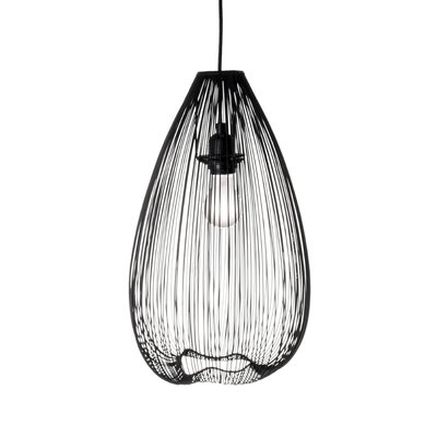 Pennell 1-Light Globe Pendant Shade Color: Black