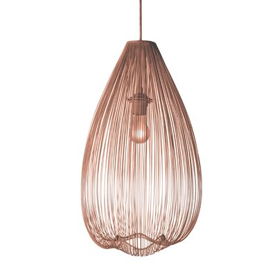 Pennell 1-Light Globe Pendant Shade Color: Copper