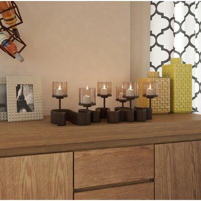 Brayden Studio Arete Glass Candelabra