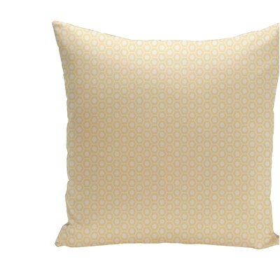 Carignan Throw Pillow Size: 16 H x 16 W, Color: Soft Lemon