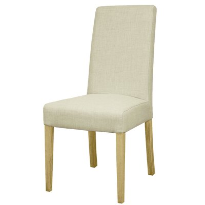 Perin Fabric Side Chair Upholstery: Linen