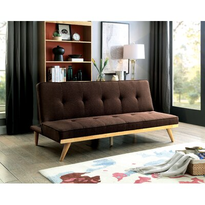 Prager Convertible Sofa Upholstery: Brown
