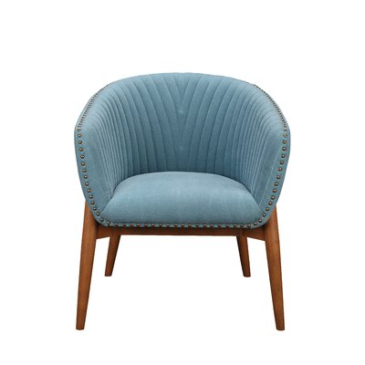 Hellwig Barrel Chair Upholstery: Teal