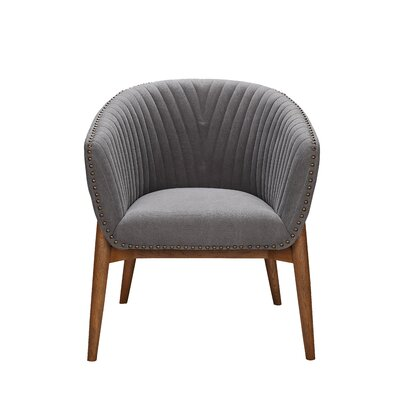 Hellwig Barrel Chair Upholstery: Light Gray