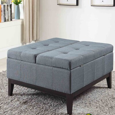 Preas Dual Lift Storage Coffee Table Upholstery: Blue