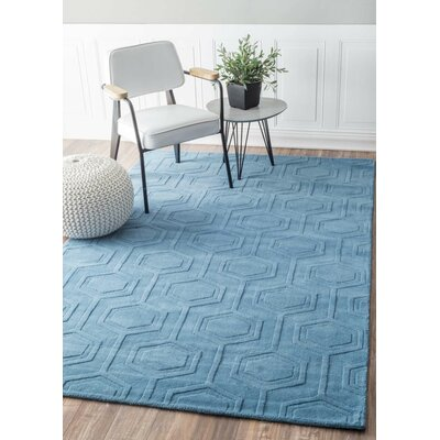 Schuykill Hand-Woven Blue Area Rug Rug Size: 5 x 8