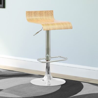 Preciado Adjustable Height Swivel Bar Stool