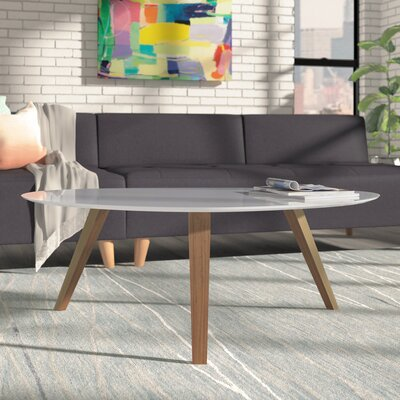 Ston Easton Coffee Table Top Finish: Ivory, Size: Large