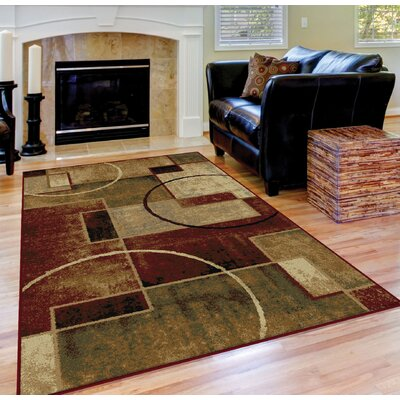 Soares Red/Ivory Area Rug