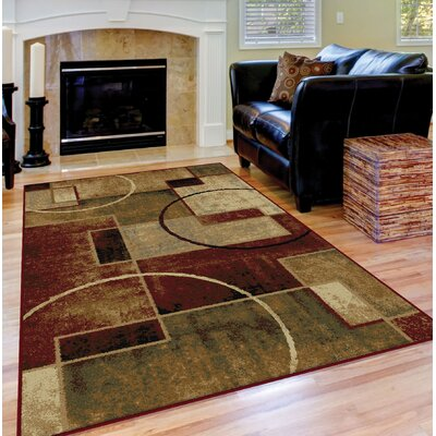 Soares Red/Ivory Area Rug Rug Size: 710 x 103