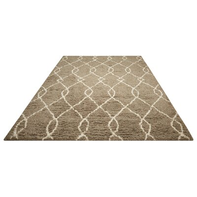 North Moore Hand-Tufted Mocha/Ivory Area Rug Rug Size: 5 x 7