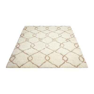 North Moore Hand-Tufted Ivory/Tan Area Rug Rug Size: 5 x 7