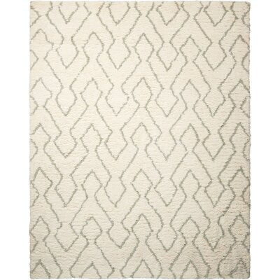 North Moore Hand-Tufted Ivory/Sage Area Rug Rug Size: 5 x 7