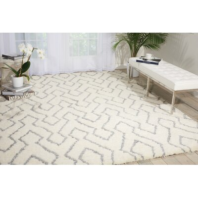 North Moore Hand-Tufted Ivory/Gray Area Rug Rug Size: 76 x 96