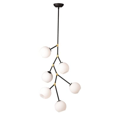Doolin 6-Light Metal Sputnik Chandelier