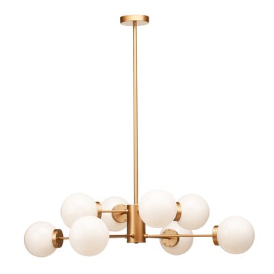 Presler 8-Light Sputnik Chandelier Finish: Gold