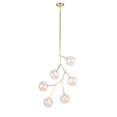 Doolin 6-Light Sputnik Chandelier