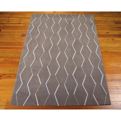 Venable Hand-Tufted Charcoal Area Rug Rug Size: 36 x 56