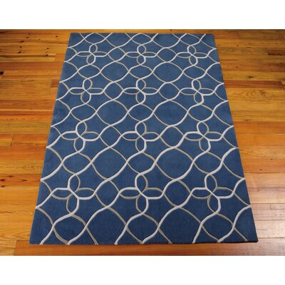 Venable Handmade Denim/White�Area Rug Rug Size: 3'6