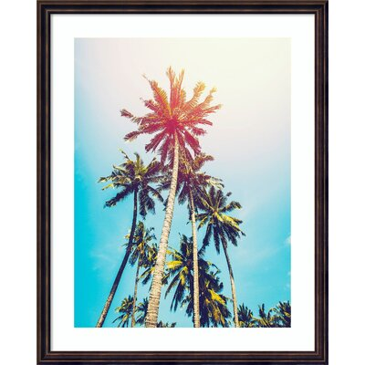 'Palms in the Sun Prints' Framed Photographic Print