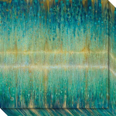 'Rain Abstract I' Painting Print on Wrapped Canvas