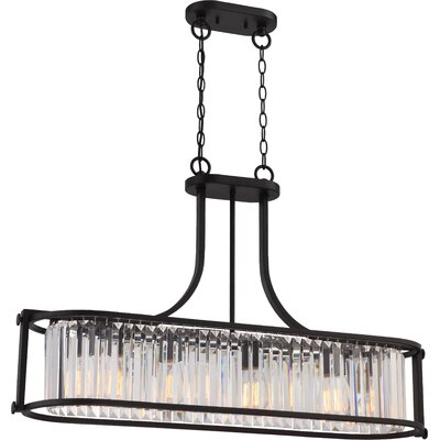 Bunton 4-Light Crystal Pendant Finish: Aged Bronze
