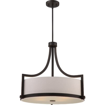 Bullen 4-Light Drum Pendant Finish: Russet Bronze