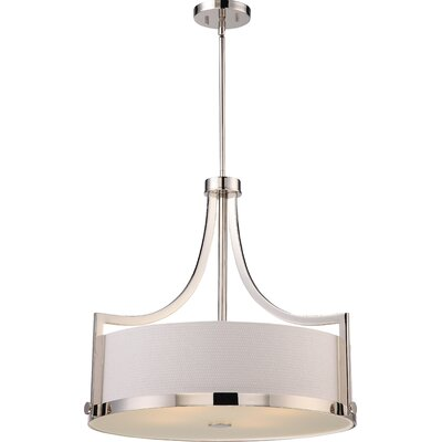 Bullen 4-Light Drum Pendant Finish: Polished Nickel