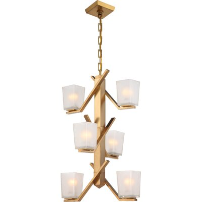 Balogh 6-Light Clustert Pendant Finish: Vintage Brass
