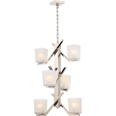 Balogh 6-Light Clustert Pendant Finish: Polished Nickel