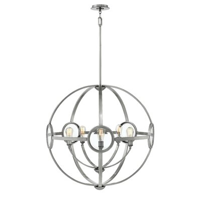 Propes 5-Light Candle-Style Chandelier Finish: Polished Antique Nickel
