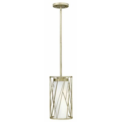 Rehberg 1-Light Mini Pendant Finish: Silver leaf, Size: 15 H x 8.25 W x 8.25 D