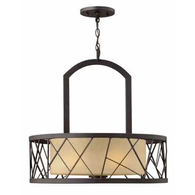 Rehberg 3-Light Drum Chandelier Finish: Oil Rubbed Bronze