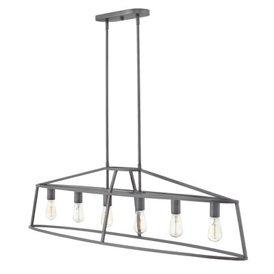 Balbuena 6-Light Kitchen Island Pendant Finish: Graphite Bronze