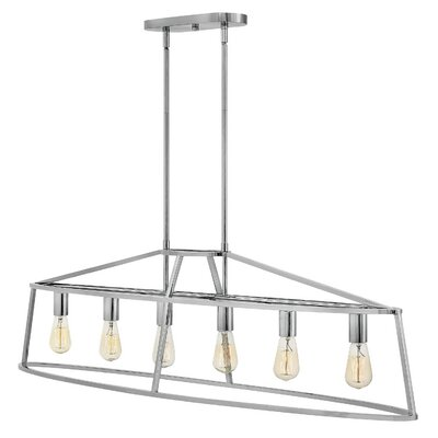 Balbuena 6-Light Kitchen Island Pendant Finish: Polished Nickel