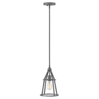 Balbuena 1-Light Mini Pendant Finish: Graphite Bronze