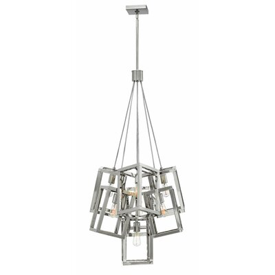 Reiber 7-Light Cluster Pendant Finish: Polished Nickel