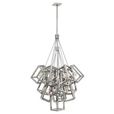 Reiber 13-Light Cluster Pendant Finish: Polished Nickel