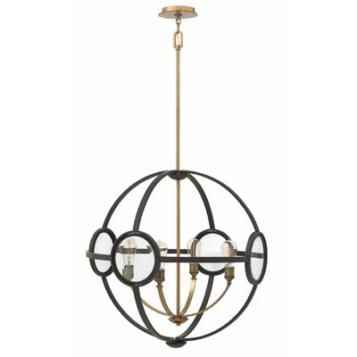 Propes 4-Light Candle-Style Chandelier Finish: Buckeye Bronze