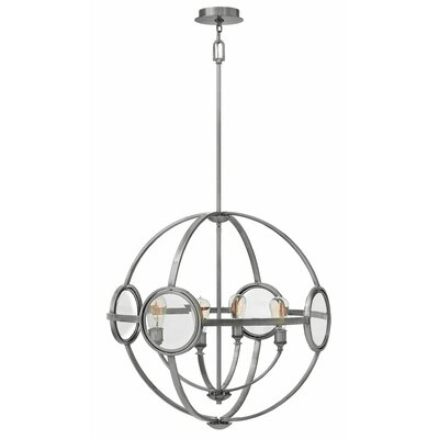 Propes 4-Light Candle-Style Chandelier Finish: Polished Antique Nickel