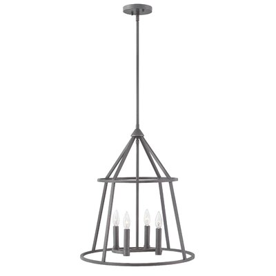 Reich 4-Light Candle-Style Chandelier Finish: Graphite Bronze, Size: 23.5 H x 20 W x 20 D
