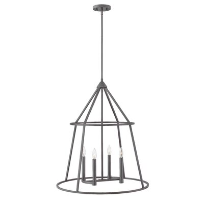 Balbuena 4-Light Candle-Style Chandelier Finish: Graphite Bronze, Size: 30 H x 26 W x 26 D