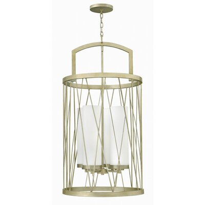 Rehberg 4-Light Foyer Pendant Finish: Silver Leaf